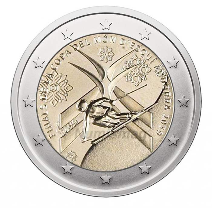 2 euros 2019 Andorre
