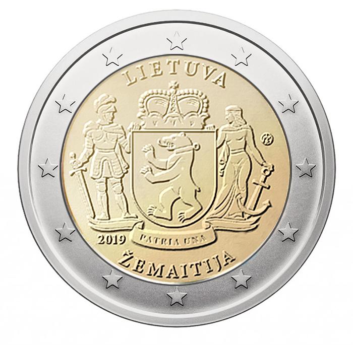 2 euro Žemaitija Letuvia lithuania 2019