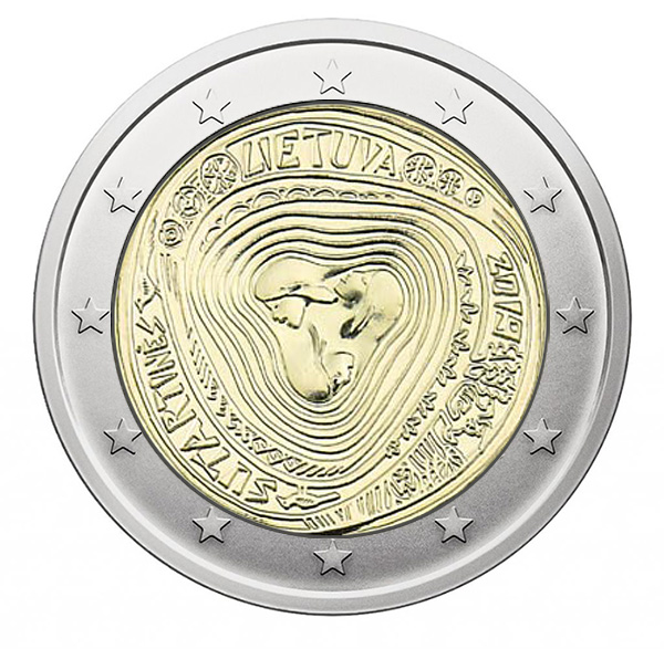 Lithuania 2 euro Commemorative Coin 2018 100 years UNC from Roll