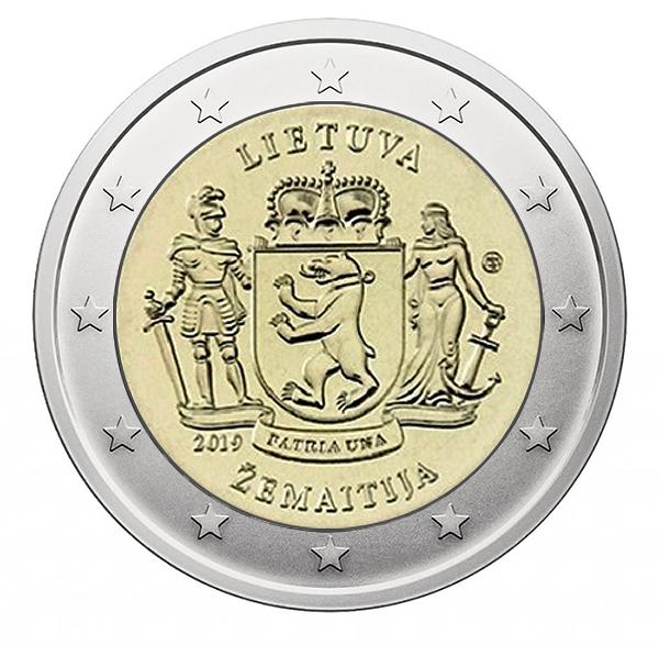 2 € commémorative 2019 Samogitie - Lituanie