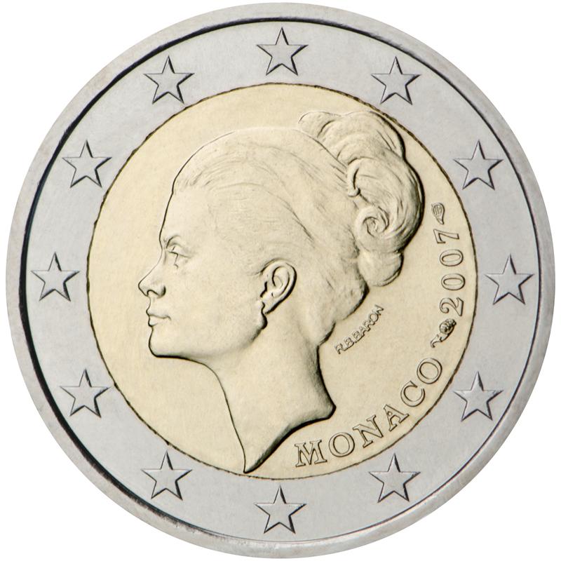 2 Euro Commemorative Monaco Grace Kelly 2007 - Valeurs et tirage des pièces euros de la Principauté de Monaco - Pièces de circulation et commémoratives
