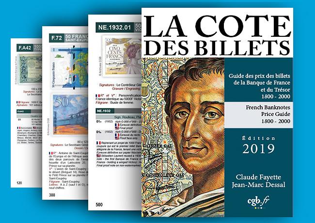 La Cote des Billets de la Banque de France et du Trésor, édition 2019