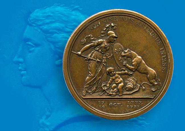1776 Benjamin FRANKLIN'S LIBERTAS AMERICANA MEDAL, by Augustin DUPRE