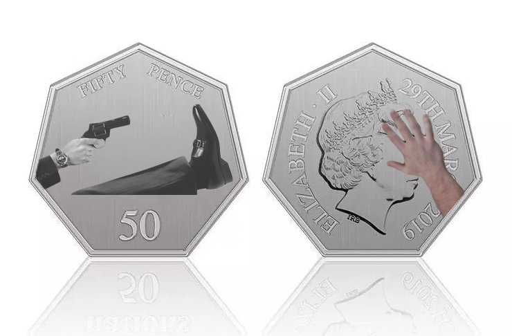 50p BREXIT coin from 2019 - Royal Mint
