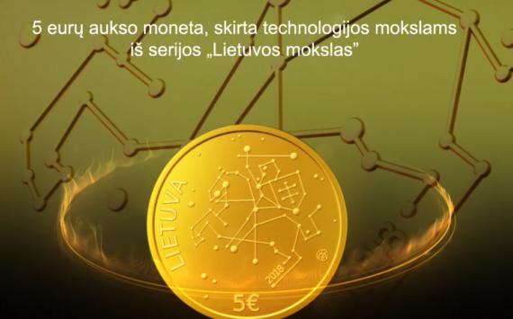 Pièce commémorative 5€ or 2018 – Satellites lituaniens