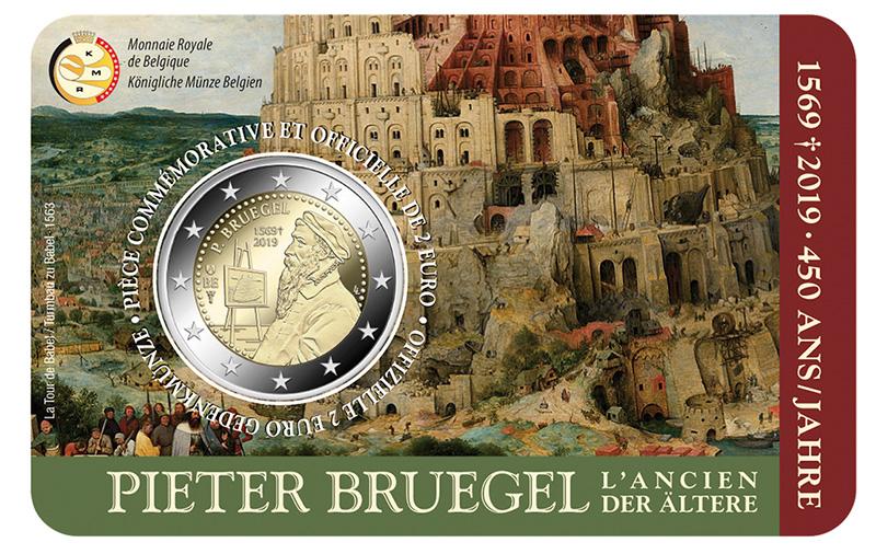 2 euro 2019 - 450 ème anniversaire de la mort du peintre Pieter Bruegel