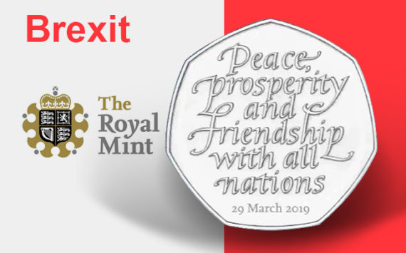 50p BREXIT coin from 2019 – Royal Mint