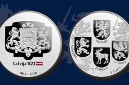 Latvijas Banka collector coin official issue – 2018 €10 Coats of Arms Coin