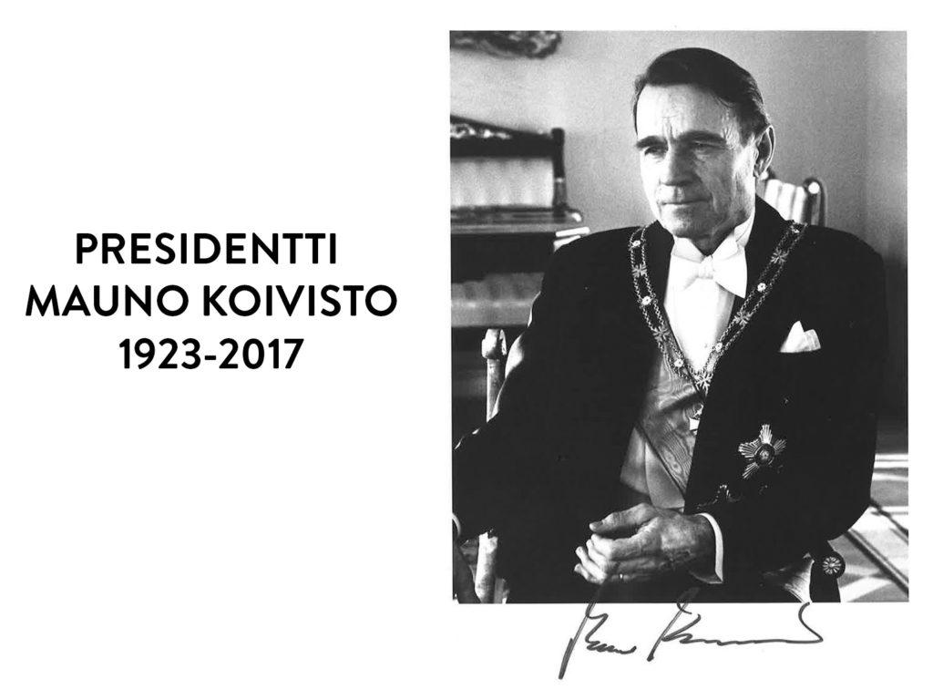 5€ commémorative 2018 – MAUNO KOIVISTO, 9éme président de la Finlande