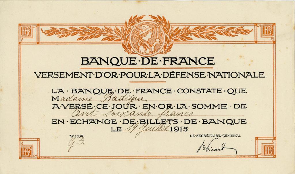 Le Franc dans la tourmente - L'économie de la France de 1914 à l'Armistice en 1918