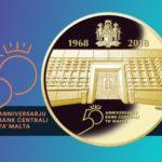 100 euro Or - les 50 ans de la création de la Banque Centrale de Malte - Combien vaut la 100€ or 2018 émise par Malte?
