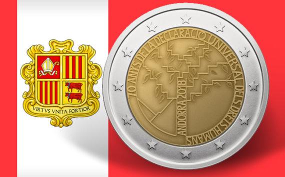 2€ commémorative Andorre 2018 – 70 ans de la déclaration universelle des droits de l'homme