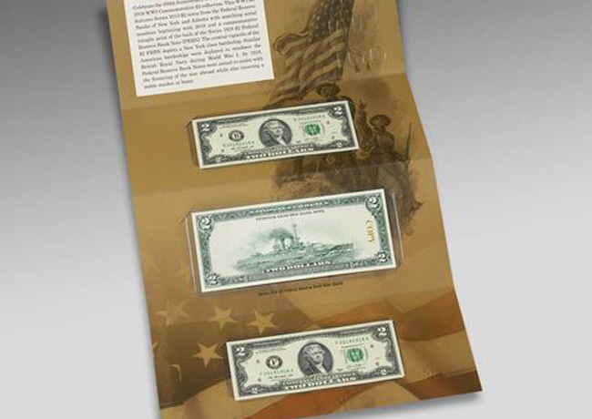 100th Anniversary of first World War Commemorative $2 currency set