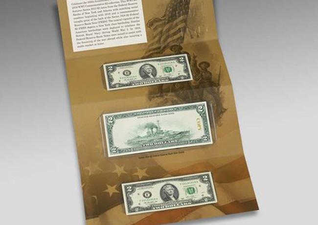 Set fiduciaire commémoratif 2 $- 100e anniversaire de la Première Guerre mondiale
