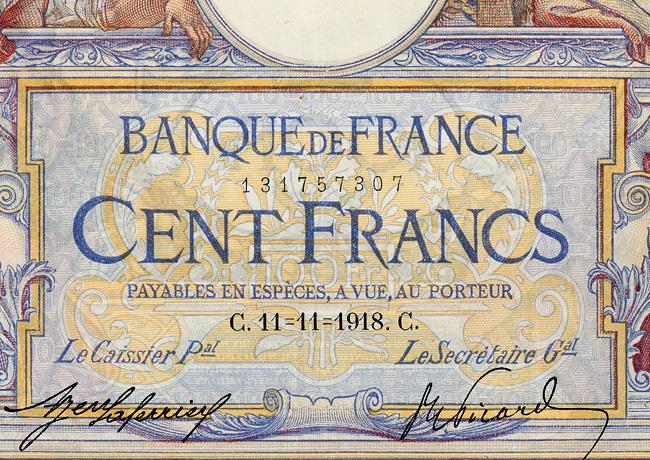 Le billet du jour – Un 100 francs Merson de 1918