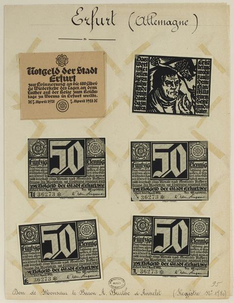 Currency in crisis - German emergency money 1914-1924, British Museum