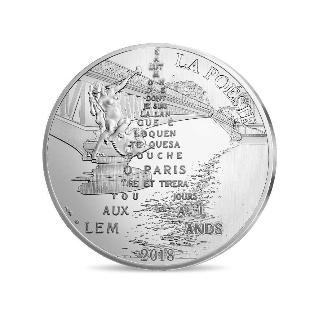Pièces de 10€ et 50€ 1/4 OZ Or Guillaume Apollinaire - Monnaie de Paris 2018