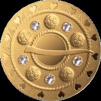 Pièce en or 75€ Lettonie 2018 - Fibule bulle