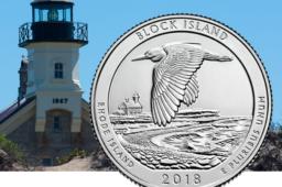 Le nouveau quart de dollar 2018 de l'US mint – Refuge de Block Island