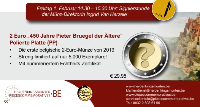 Programme Numismatique 2019 De La Belgique Numismag
