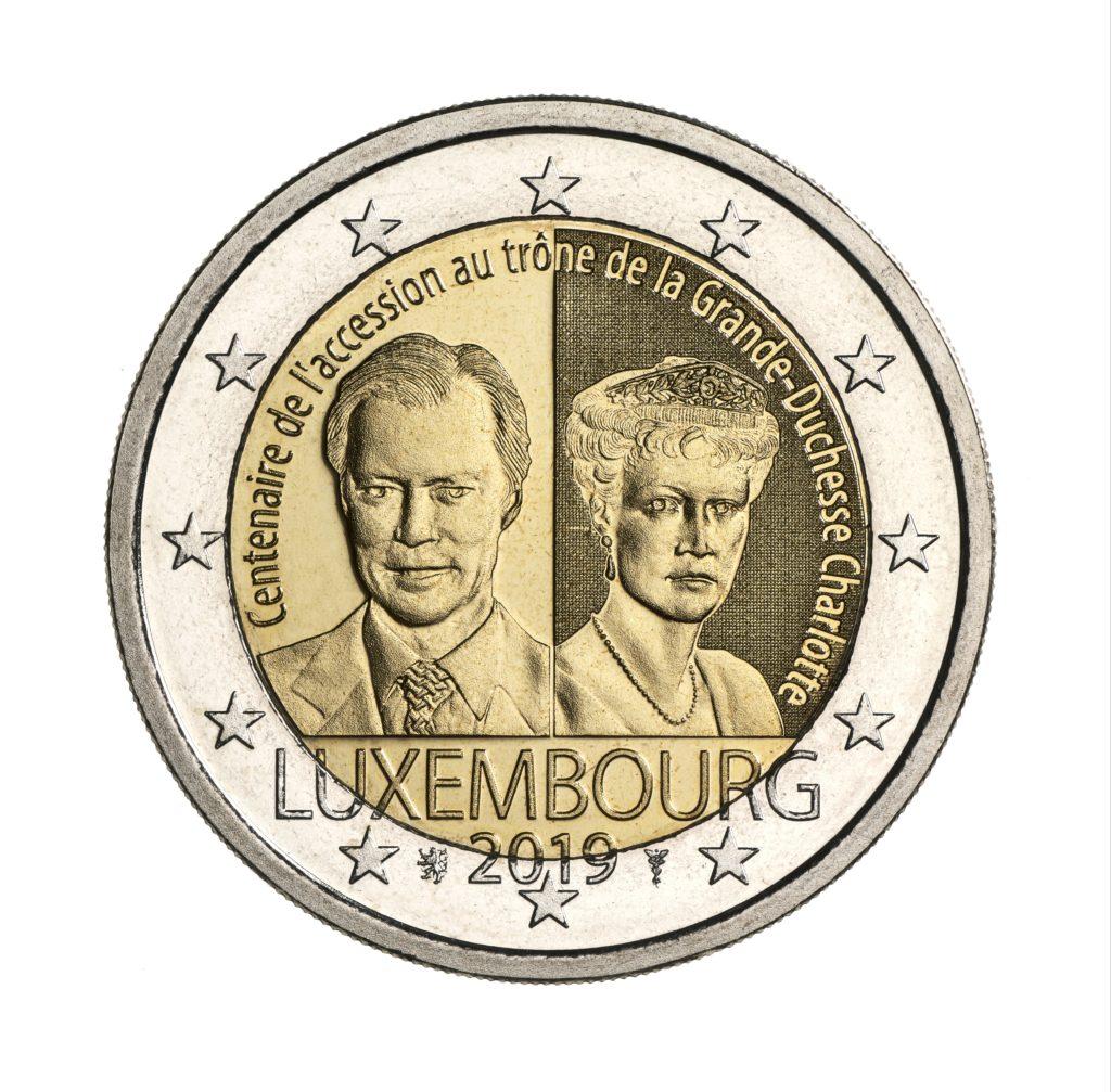 Programme numismatique 2019 du Luxembourg