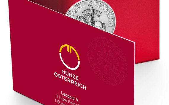 Pièces commémorant le 825ème anniversaire de la Monnaie d'Autriche