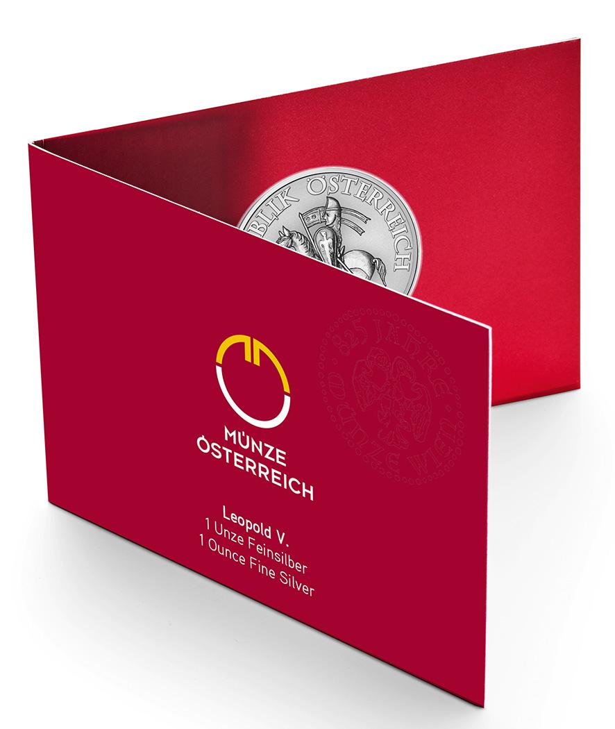 Piéces commémorant le 825éme anniversaire de la Monnaie d'Autriche