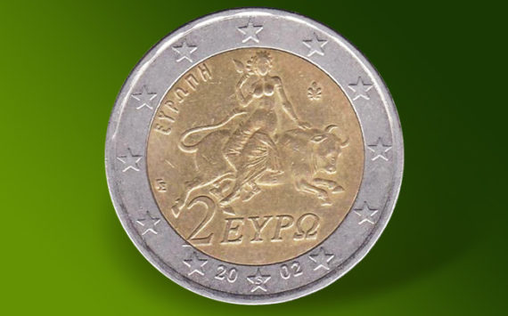A Greek 2 euro coin from 2002 for 80,000 euros!