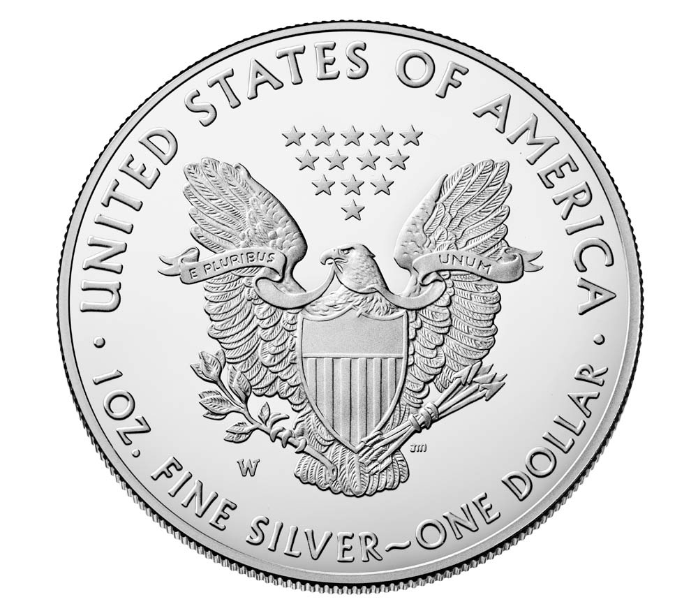 2019 Silver One Once Bullion Coin Of Us Mint2019 Silver
