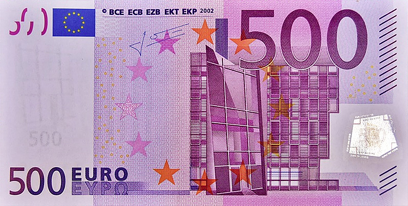 The end of the 500 euro banknote for January 2019 - 500 euro note
