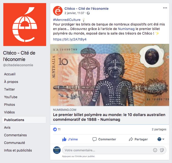Quand Citéco, Cité de l'Economie et de la Monnaie... cite Numismag