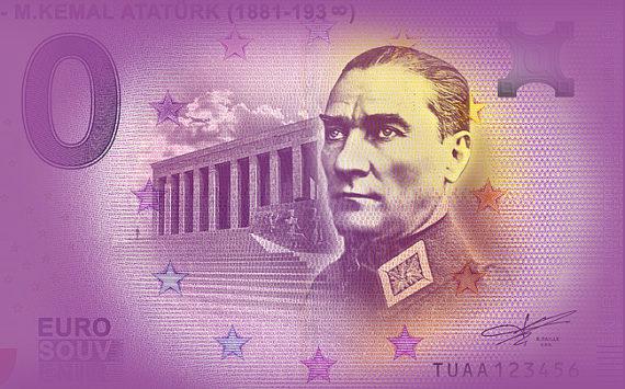 Zero euro ATATÜRK 2019 – Euro Souvenir Banknote