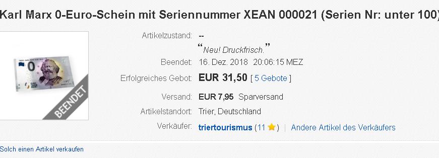 Zero euro ATATÜRK 2019 - Euro Souvenir Banknote