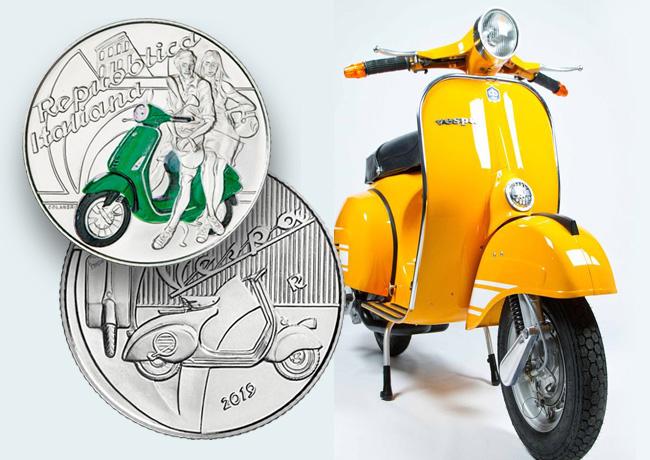 2019 €5 italian coin – FORZA VESPA!