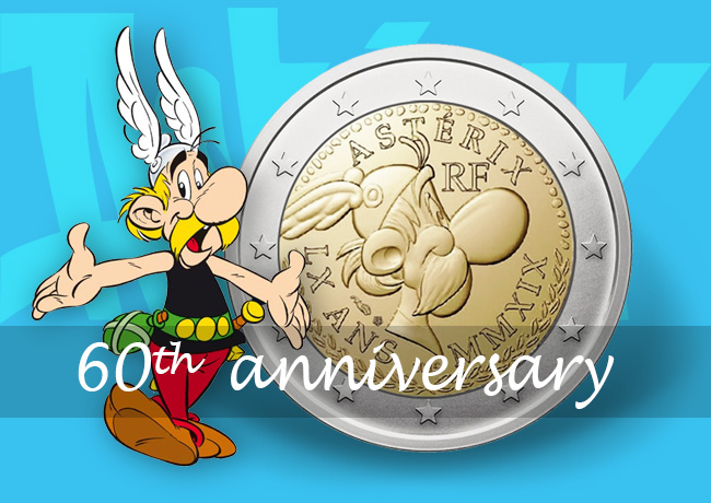 France 2019 €2 commemorative coin: 60th birthday of Asterix