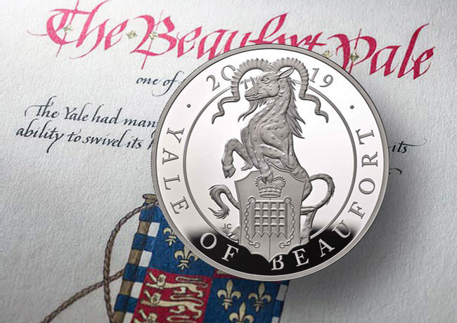 The Yale of Beaufort – Queen's Beasts collection – Royal Mint 2019