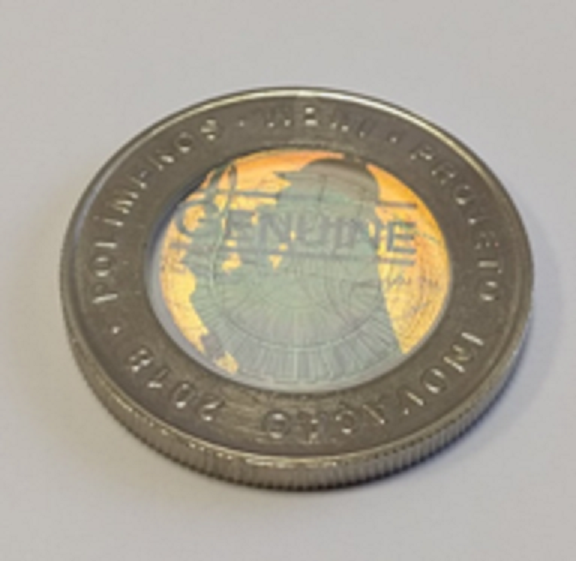 Stunning euro polymer pattern coin of Portugal