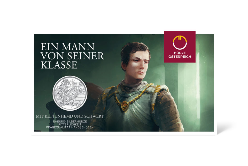 2019 austrian Knights' Tales series - €10 Chivalry coin