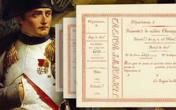 Bon de 400 francs du Trésor Impérial 1813 – Remonte de 12600 Chevaux de Trait