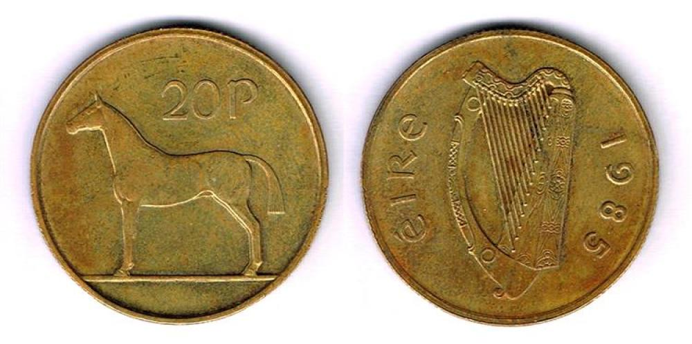 A top rarity irish coin: a 1985 20 pence valued at €6000!