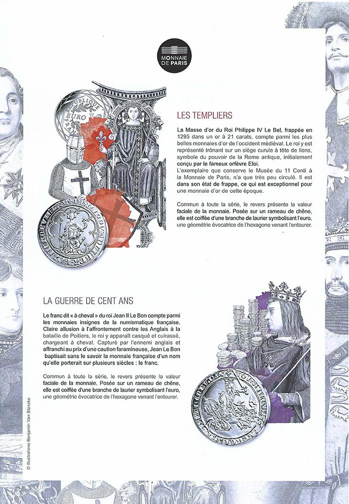 Patrimoine - Stéphane Bern- Pièces Bern - pièces d'histoire piece la poste 2019- monnaie de paris la poste 2019- pieces la poste 2019