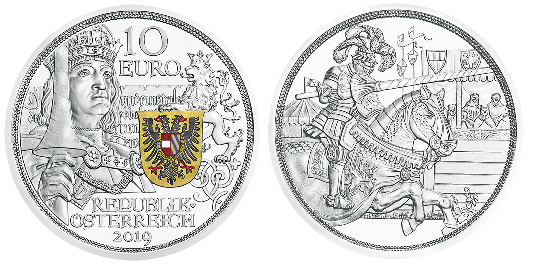 2019 austrian Knights' Tales series – €10 Chivalry coin