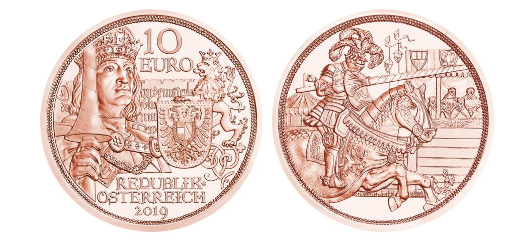 10€ Chevalerie 2019 et le 825éme anniversaire de la Monnaie d'Autriche