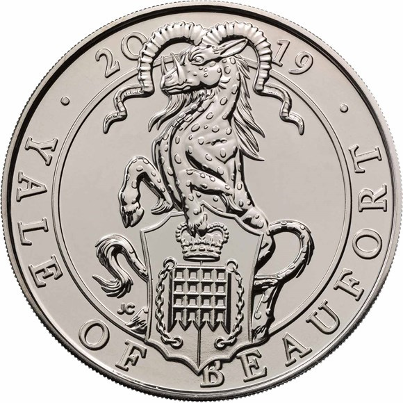 £5 Brilliant Uncirculated Coin-The Yale of Beaufort - Queen's Beasts collection - Royal Mint 2019