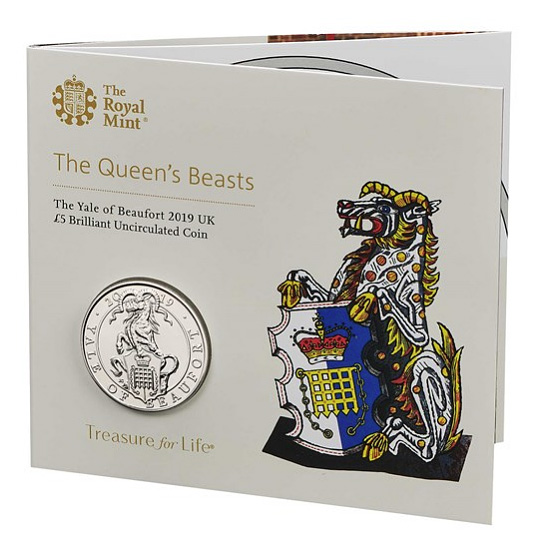 The Yale of Beaufort - Queen's Beasts collection - Royal Mint 2019