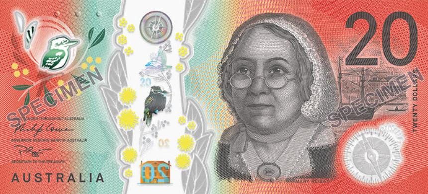 Un medecin volant sur le nouveau billet 2019 de 20 dollars australien