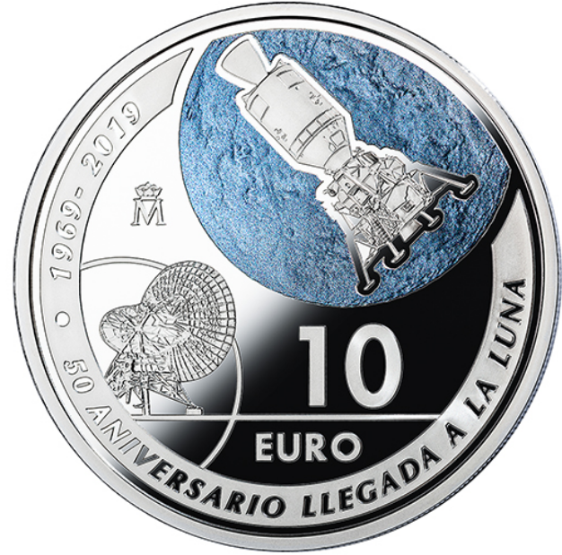 50th anniversary 1969 moon landing, worldwide coins and