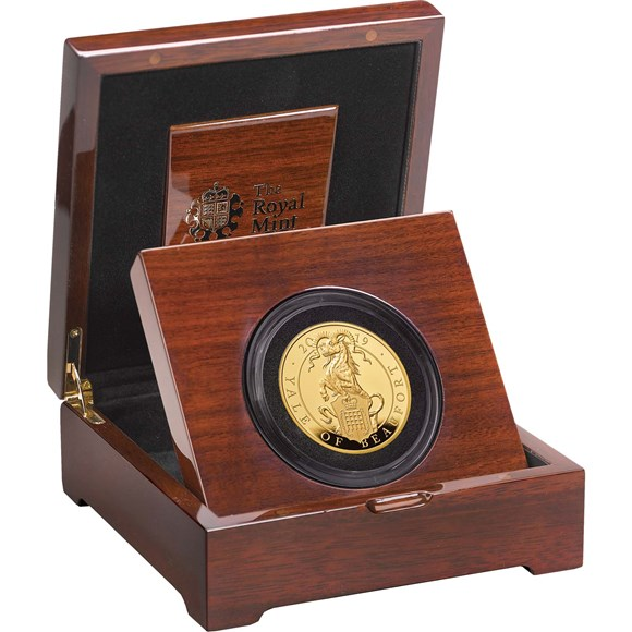 Five-Ounce Gold Proof Coin-The Yale of Beaufort - Queen's Beasts collection - Royal Mint 2019