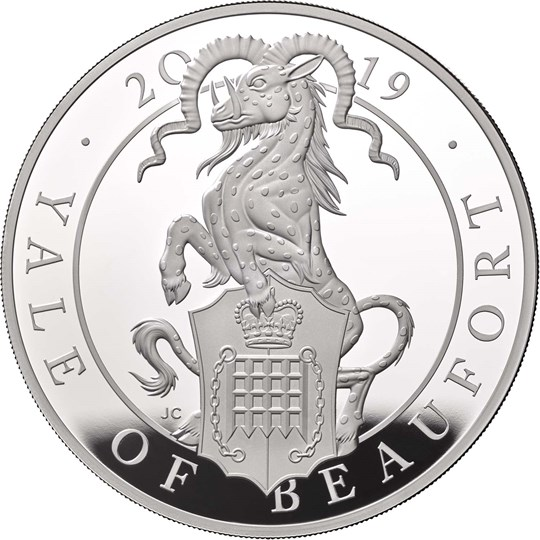 Five-Ounce Silver Proof Coin - The Yale of Beaufort - Queen's Beasts collection - Royal Mint 2019