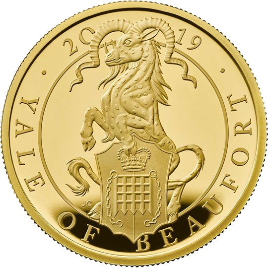 One Ounce Gold Proof Coin-The Yale of Beaufort - Queen's Beasts collection - Royal Mint 2019